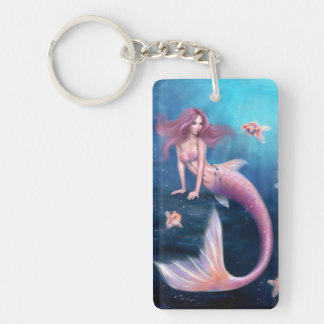 Aurelia Goldfish Mermaid Double Sided Keychain