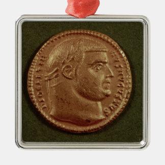 Aureus  of Diocletian  wearing a laurel wreath Christmas Ornament