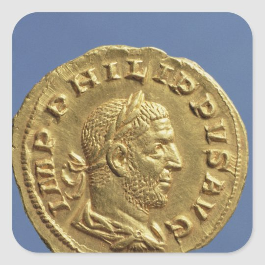 Aureus  of Philip the Arab Square Sticker