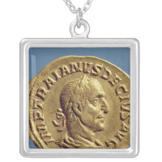 Aureus  of Trajan Decius Silver Plated Necklace
