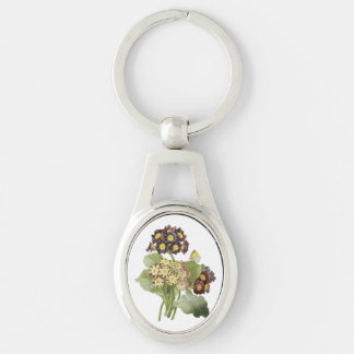 auricula(Primula auricula) by Redouté Key Ring
