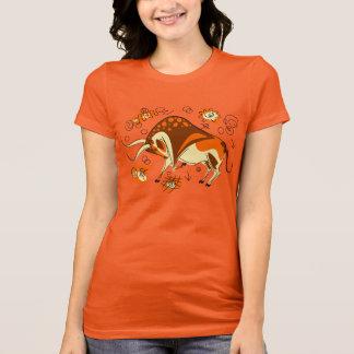 Auroch Cave Painting With Entoptics T-Shirt