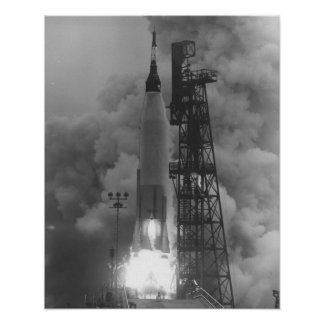 Aurora 7 (Mercury Atlas 7) Launch Poster