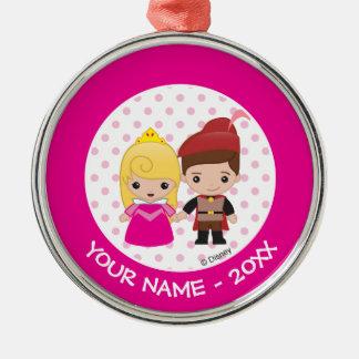 Aurora and Prince Philip Emoji Add Your Name Christmas Ornament