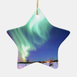 Aurora at Bear Lake. Christmas Ornament