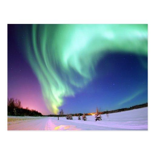 Aurora at Bear Lake. Post Card