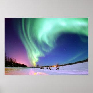 Aurora at Bear Lake. Poster