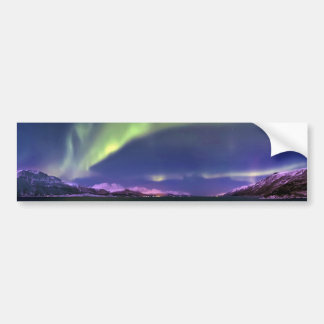 Aurora Borealis above Lyngenfjorden Norway Bumper Sticker