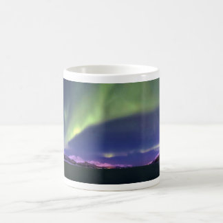 Aurora Borealis above Lyngenfjorden Norway Coffee Mug
