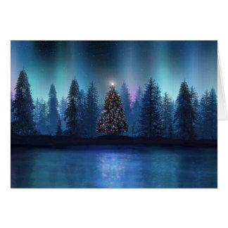 Aurora Borealis Christmas Greeting Card