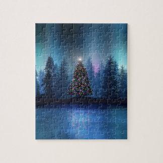 Aurora Borealis Christmas Jigsaw Puzzle