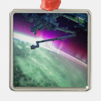 Aurora Borealis from space Christmas Ornament