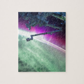 Aurora Borealis from space Jigsaw Puzzle