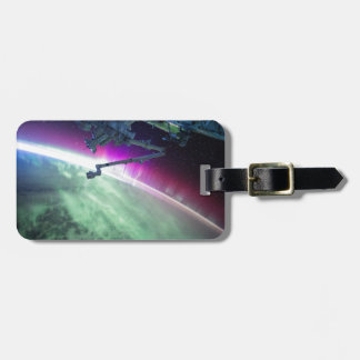 Aurora Borealis from space Luggage Tag