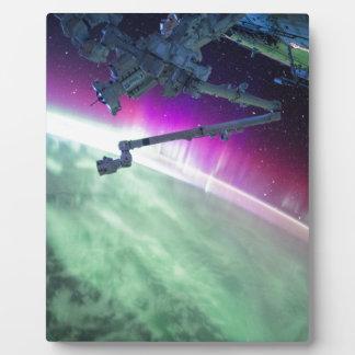 Aurora Borealis from space Plaque