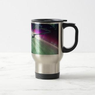 Aurora Borealis from space Travel Mug