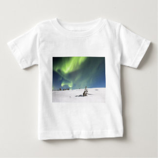Aurora Borealis green Northern lights snowscape Baby T-Shirt