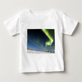 Aurora Borealis green Northern lights snowscape Tee Shirt