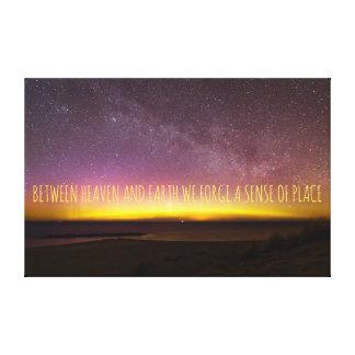 Aurora Borealis Heaven And Earth Canvas Art