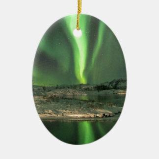 Aurora Borealis Iceland Ceramic Oval Decoration