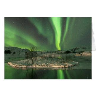 Aurora Borealis Iceland Greeting Card