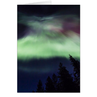 Aurora borealis in Finnish Lapland Card