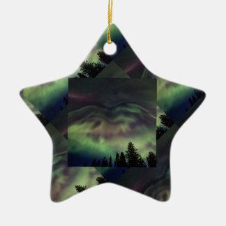 Aurora borealis in Finnish Lapland Christmas Ornament