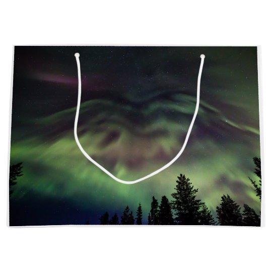 Aurora borealis in Finnish Lapland Large Gift Bag