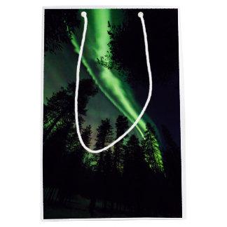 Aurora borealis in Finnish Lapland Medium Gift Bag