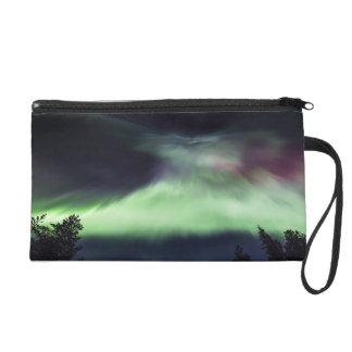 Aurora borealis in Finnish Lapland Wristlet