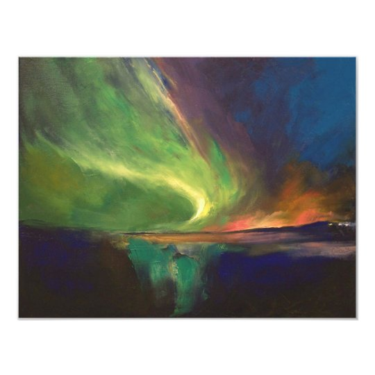 Aurora Borealis Invitation
