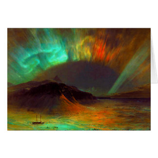Aurora Borealis,  Northern Lights Card