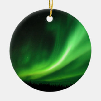 Aurora Borealis Northern Lights Round Ceramic Decoration