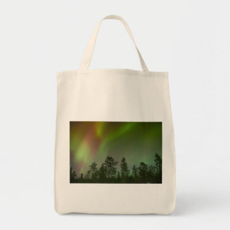Aurora Borealis Northern Lights Skies Glow Sparkle Grocery Tote Bag
