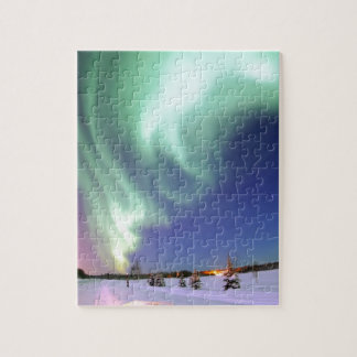 Aurora Borealis, or Northern Lights, Alaska Jigsaw Puzzle