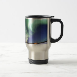 Aurora Borealis, or Northern Lights, Alaska Travel Mug