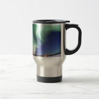 Aurora Borealis, or Northern Lights, Alaska Travel Mug