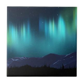 Aurora Borealis Small Square Tile