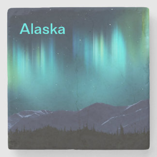 Aurora Borealis Stone Coaster