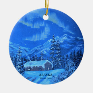 Aurora Cabin Christmas Ornament