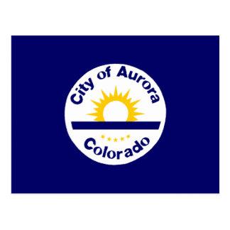 Aurora, Colorado Flag Postcard