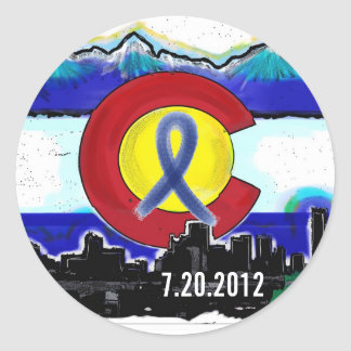 Aurora Colorado memorial state flag stickers