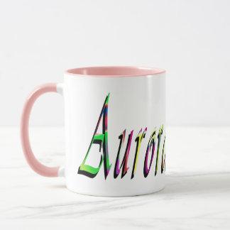 Aurora Girls Name Logo, Mug