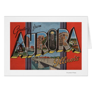 Aurora, Illinois - Large Letter Scenes Card