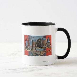 Aurora, Illinois - Large Letter Scenes Mug