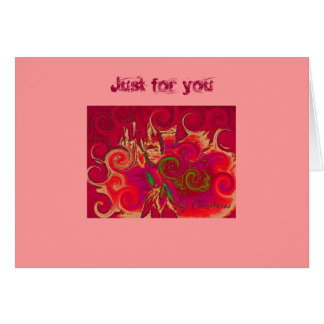 """Aurora"" Just for you ! Card"