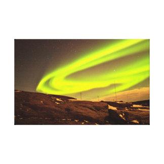 Aurora lights beautiful nature scenery canvas prints