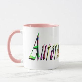 Aurora, Name Logo, Pink Combo Coffee Mug. Mug