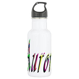 Aurora, Name, Logo, Steel Water Bottle