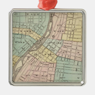 Aurora, Naperville and Wheaton Christmas Ornament